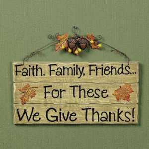 We Give Thanks Sign   Party Decorations & Wall