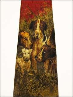 NEW Mens Designer Polo Ralph Lauren 100% Silk Equestrian / Dog Novelty