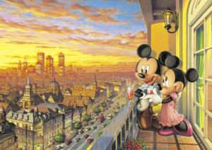 Japan Jigsaw Puzzle Tenyo Disney Mickey Minnie 300 197
