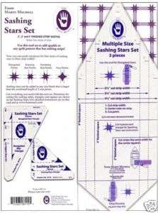 Marti Michell Quilting Template Sashing Stars Set M8114