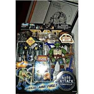 Teenage Mutant Ninja Turtle TMNT Movie Auto Attack 6 inch