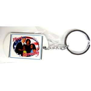 Barack Obama Keychain, made from steel,high quality,1.25