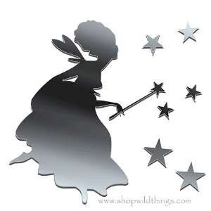 Fairy and Stars Plexi Mirrored Adhesive Wall Art