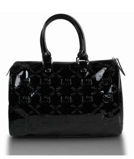 NEW Loungefly HELLO KITTY BLACK EMBOSSED CITY BAG