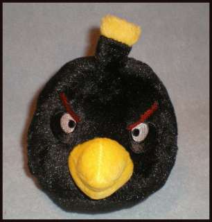 Commonwealth Angry Birds Plush Toy 5 Black Bird New