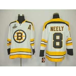 Neely #8 NHL Boston Bruins White Hockey Jersey Sz52