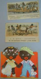 Black Americana   4 Trade Cards, 2 Greeting Cards, 1880s to c1930s