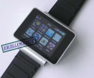 BAND COOL BLACK TOUCH SCREEN WATCH CELL PHONE  CAMERA WATCH MOBILE