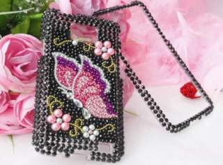 Bling Diamond Butterfly Hard Case Cover For Samsung Galaxy S II 2