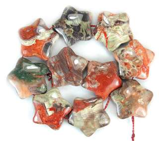 20mm Natural Colorful Opal Five Pointed Beads 10pcs
