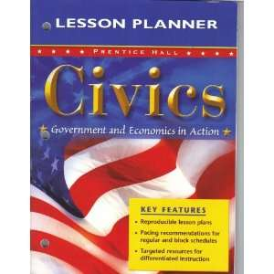 Hall, Civics, Government and Economics in Action, LESSON PLANNER