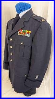 US AIR FORCE USAF LT COL COLONEL OFFICER BULLION BLUE UNIFORM BRONZE