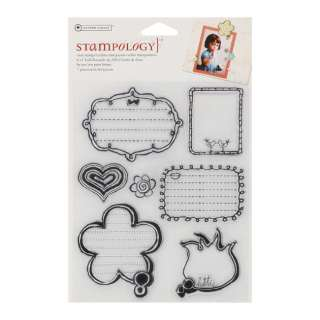 autumn leaves stampology clear stamps design girl talk quantity 7