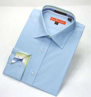 Mens Brand New Solid Blue Dress Shirt 100% Cotton