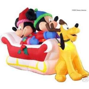 Ft Long Disney Mickey Minnie Pluto Sleigh