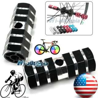 New BMX Bike Bicycle 3/8 Axle Alloy Foot Pegs Blue