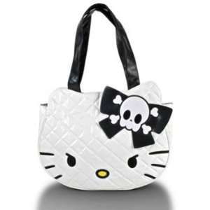 Hello Kitty White Angry Quilted Face Tote Toys & Games