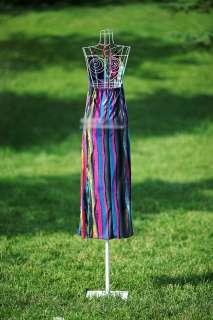 Fashion boh striped halter long maxi dress summer d66