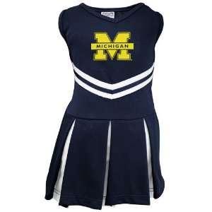 Michigan Wolverines Youth Navy Blue Cheerleader Dress