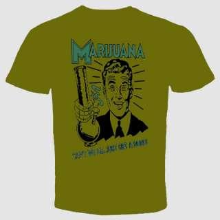 marijuana t shirt funny Cannabis bong weed Tee cool