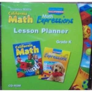 Lesson Planner Grade K (California Math & Math Expressions