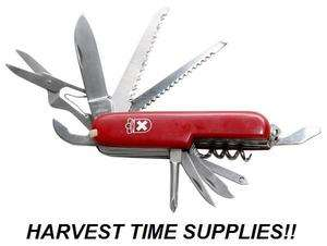 SWISS ARMY STYLE MULTI TOOL KNIFE SURVIVAL EMERGENCY   BUG OUT BAG