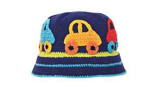 NEW Daylee Design BLUE CAR Baby Toddler Boy Hat Cotton