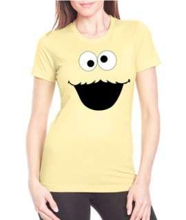 Cookie Monster Face Cartoon Next Level Ladies Tee Shirt