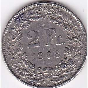 1968 B Switzerland 2 Franc Coin Everything Else