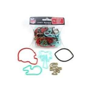 San Francisco 49ers Logo Bandz Silly Rubber Bands 20PK