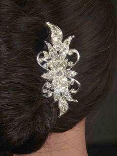 New Bridal crystal Rhinestone Headpiece Headdress Hair tiara Comb RB73