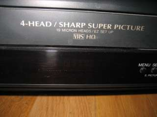 Sharp VC A582 VCR Casette Player Stereo Video VHS Super Picture