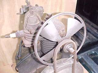 Antique Briggs & Stratton Gas Engine Fan Model P and Model D Motor