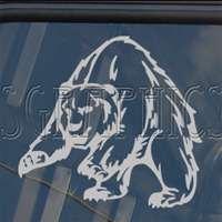 Grizzly Bear Hunt Decal Car Truck Window Sticker