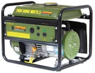 New Sporstman 2000 Watt Portable Electric Generator   Gasoline