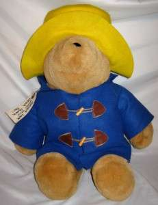 Paddington Bear Plush Doll Kids Gifts  Vintage Huge 2 Feet Tall