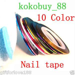 H5416 10 Color Rolls Striping Tape Line Nail Art New