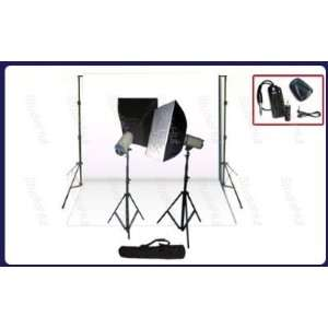 Studio Photography Light Kit complete with White Backdrop, Background