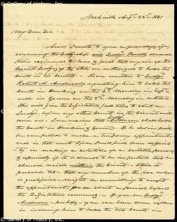 JAMES K. POLK   AUTOGRAPH LETTER SIGNED 08/22/1841