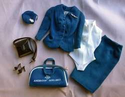 1961 Barbie American Airlines Stewardess Outfit Complete