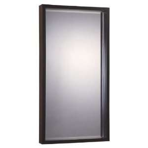 62 Wood Black Gesso Rect, Wall Beveled Mirror Frame