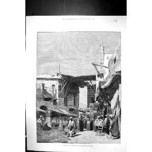 Montbard Print Scene Bazaar Street Mooskee Cairo Egypt: Home & Kitchen