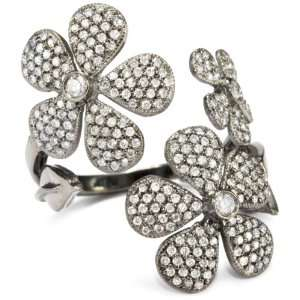 Colette Steckel Flores 18k Gold Triple Flower Ring, Size