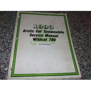 1993 Arctic Cat Wildcat 700 Service Shop Repair Manual