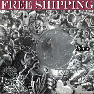 50g tibetan silver mixs pendant spacer links jewelry finding wholesale