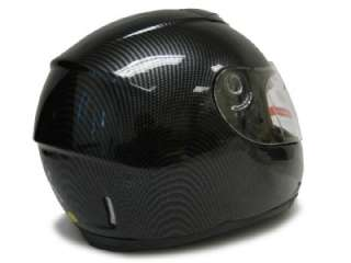 DUAL VISOR CARBON FIBER FULL FACE MOTORCYCLE HELMET ~M