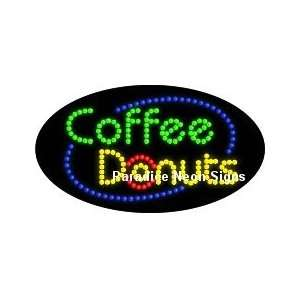 Coffee Donuts LED Sign (Oval) Sports & Outdoors
