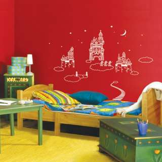 Castles in the Sky KIDS Adhesive Removable Home Wall Decor Accents