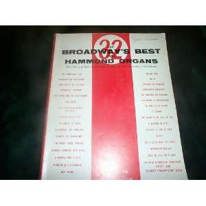 32 of Broadways Best for Hammond Organs Pre set and Spinet Models
