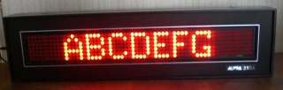 PROGRAMMABLE SCROLLING LED MESSAGE DISPLAY SIGN w/KEY BOARD&POWER COR